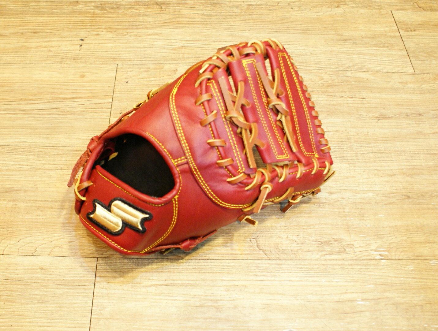 棒球世界全新店訂版SSK全牛皮硬式一壘手手套 特價 棕色