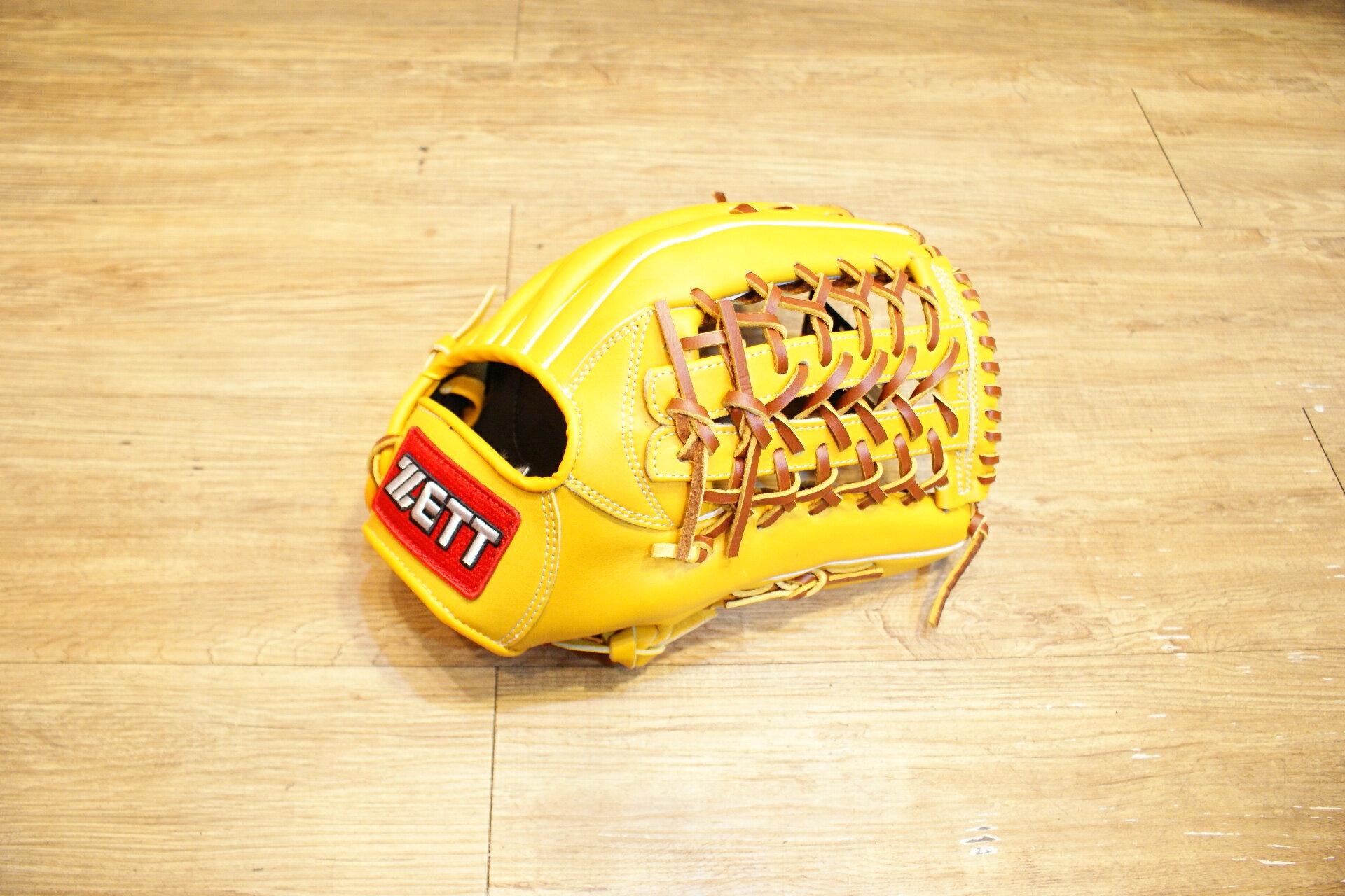 棒球世界 全新zett原皮色棒壘球手套 特價 V網球檔 12.5吋 人氣賣家商品
