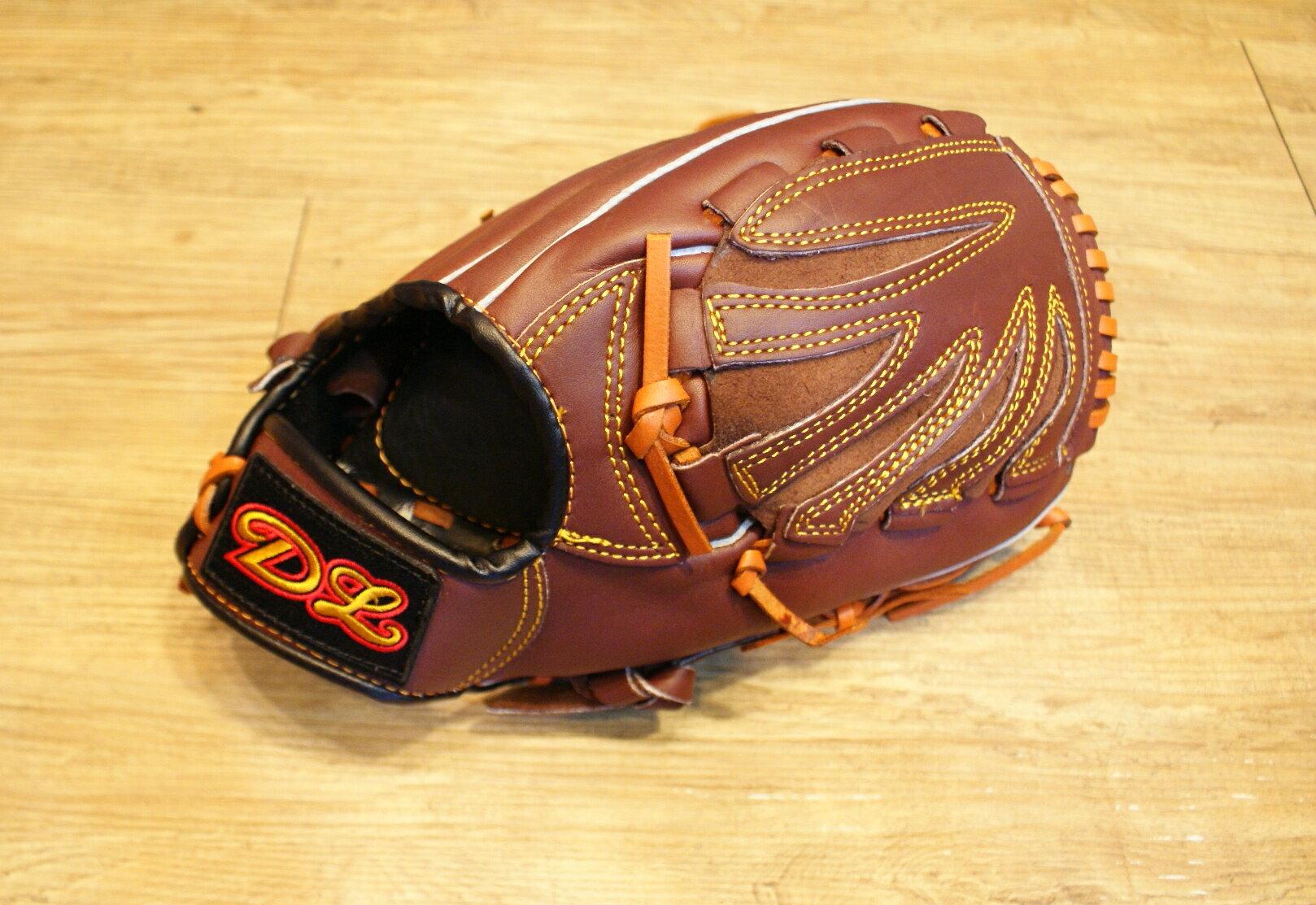 〈棒球世界〉DL內野投手咖啡色訂製款 12.5吋棒壘手套 特價 送手套袋