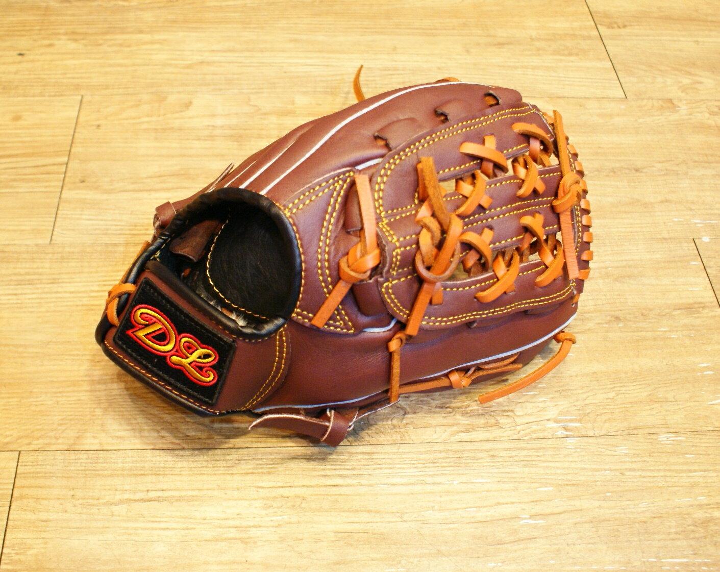 〈棒球世界〉DL內野網狀訂製款 12.吋咖啡色棒壘手套 特價 送手套袋