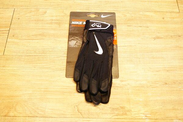 棒球世界NikeMVPYOUTH最新款打擊手套每雙特價黑色國小使用