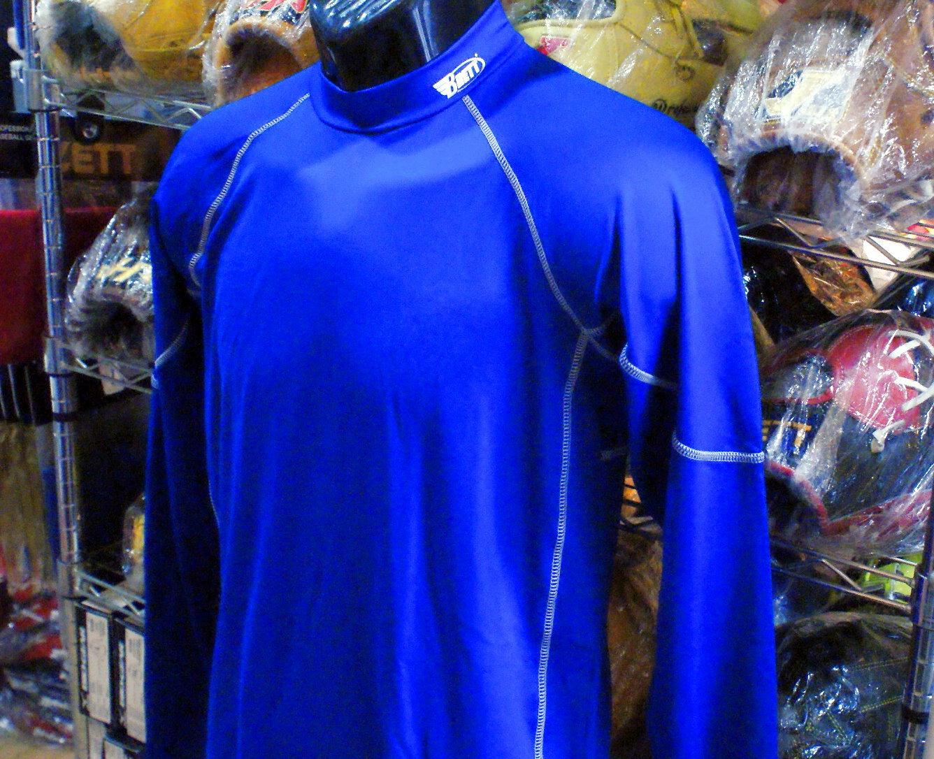 棒球世界 BRETT 新款3D棒壘專用長袖緊身衣 特價 寶藍色