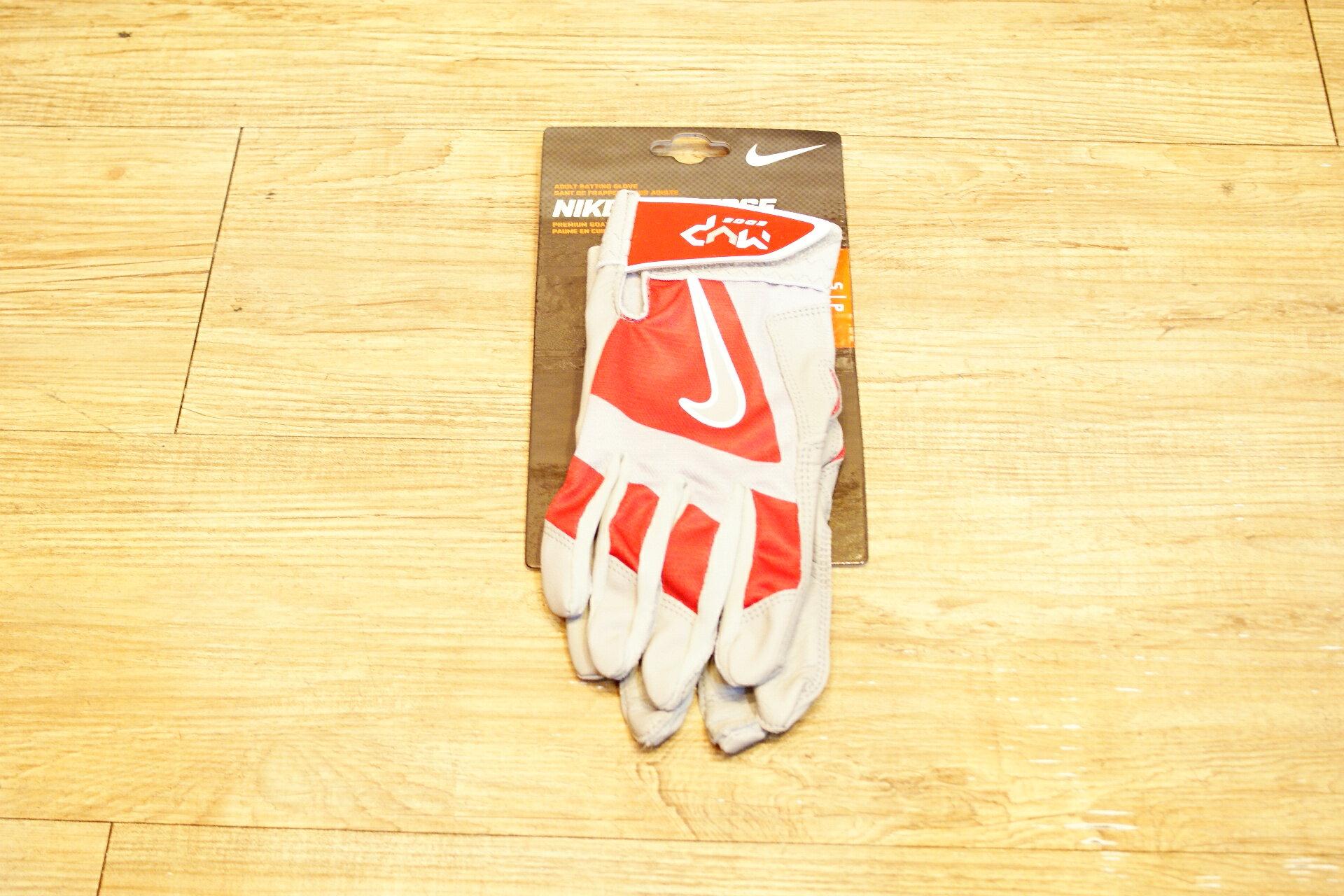 棒球世界 Nike MVP EDGE 最新款打擊手套每雙特價 紅灰色