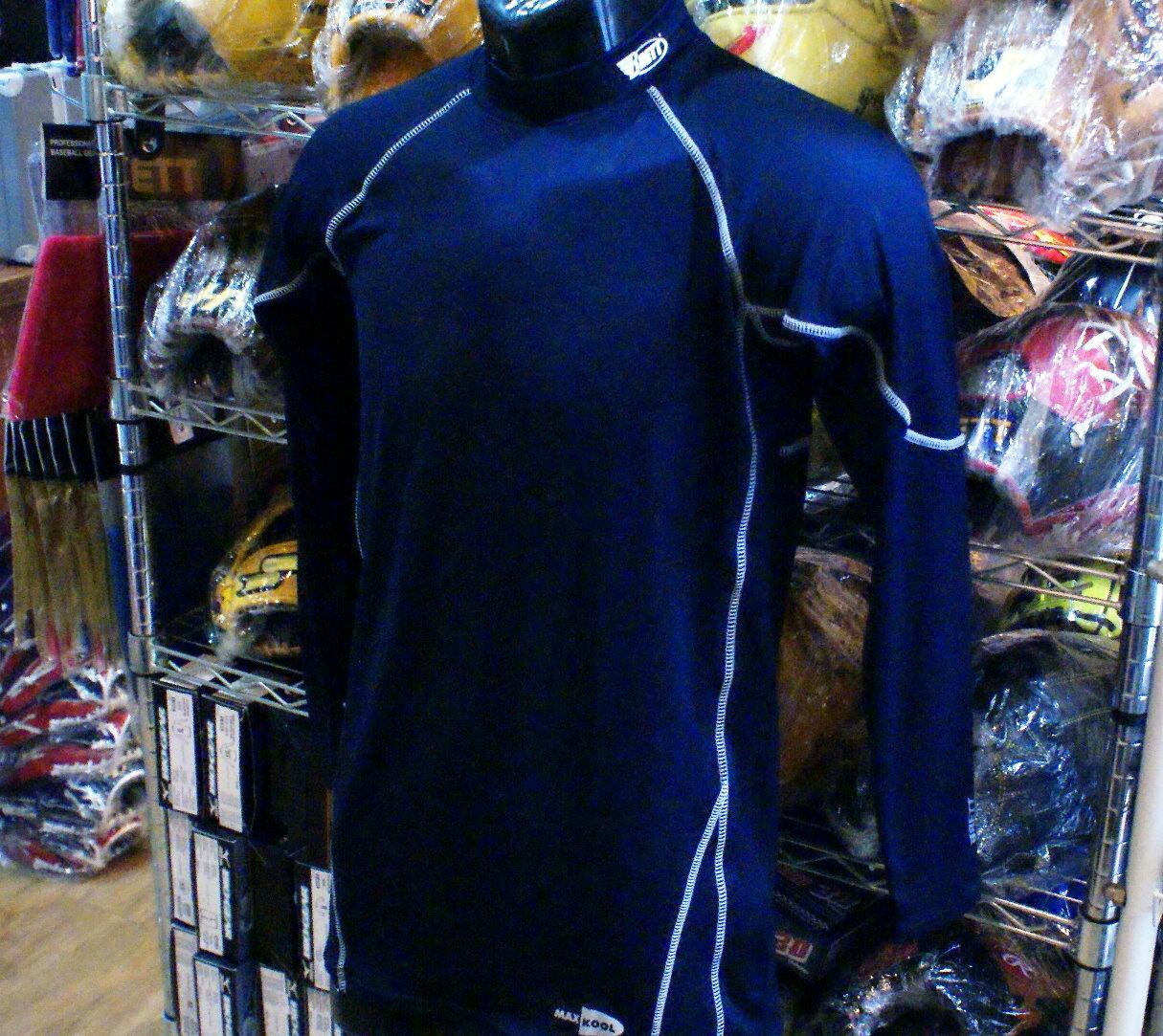棒球世界 BRETT 新款3D棒壘專用長袖緊身衣 特價 深藍色