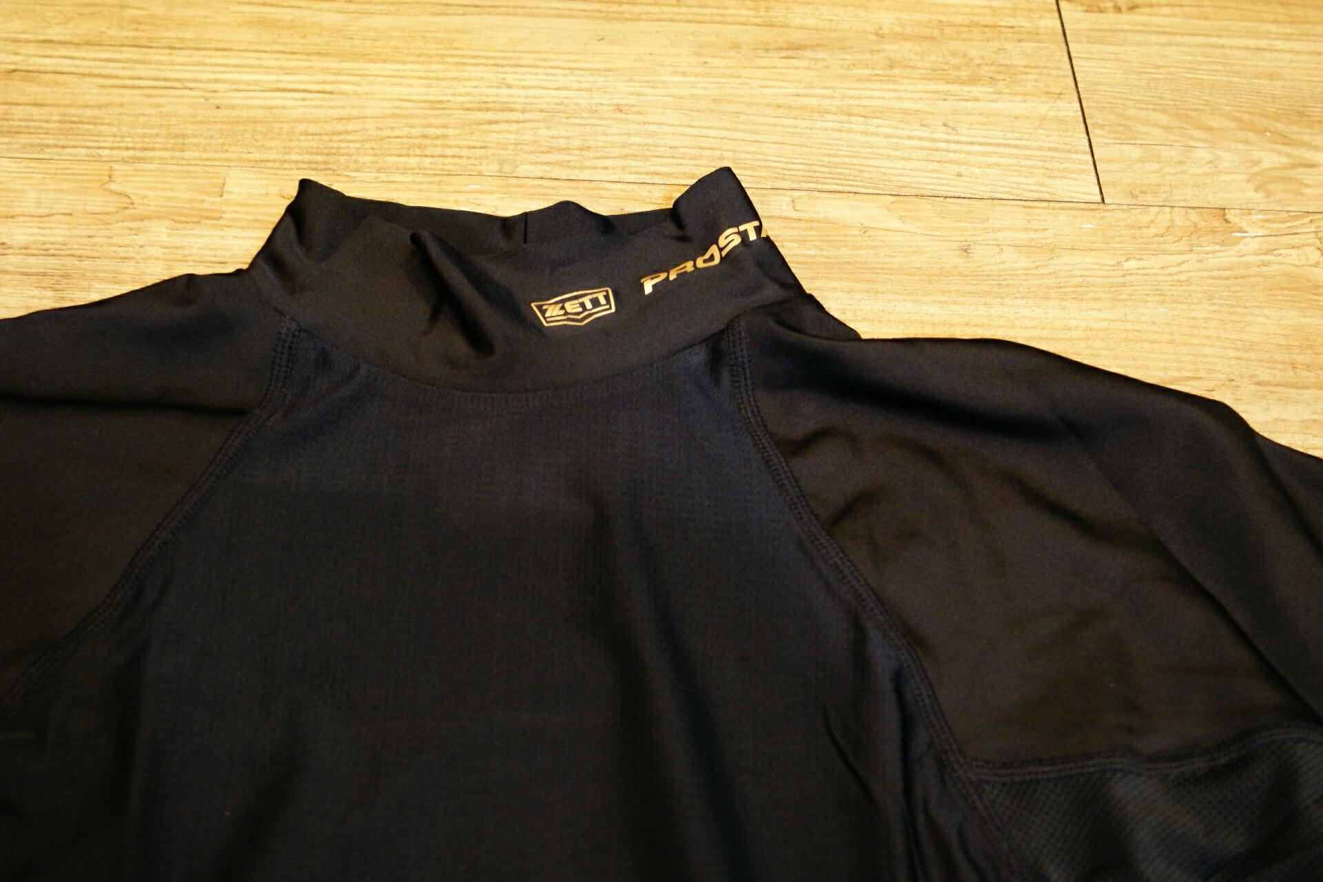 棒球世界 全新ZETT日本進口緊身衣 特價 新本壘版標 黑色
