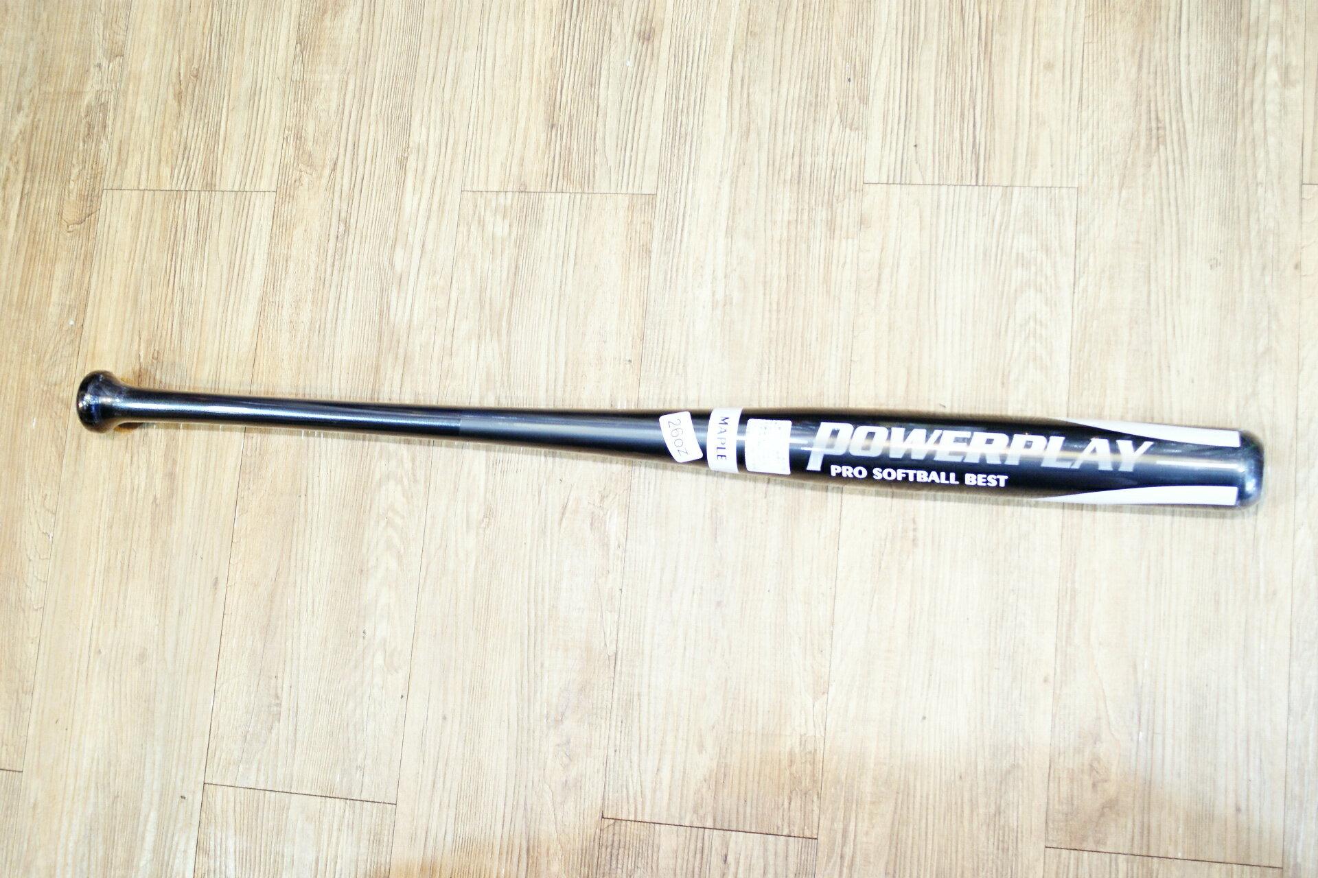 棒球世界powerplay 職業用北美楓木壘球木棒 特價 黑色