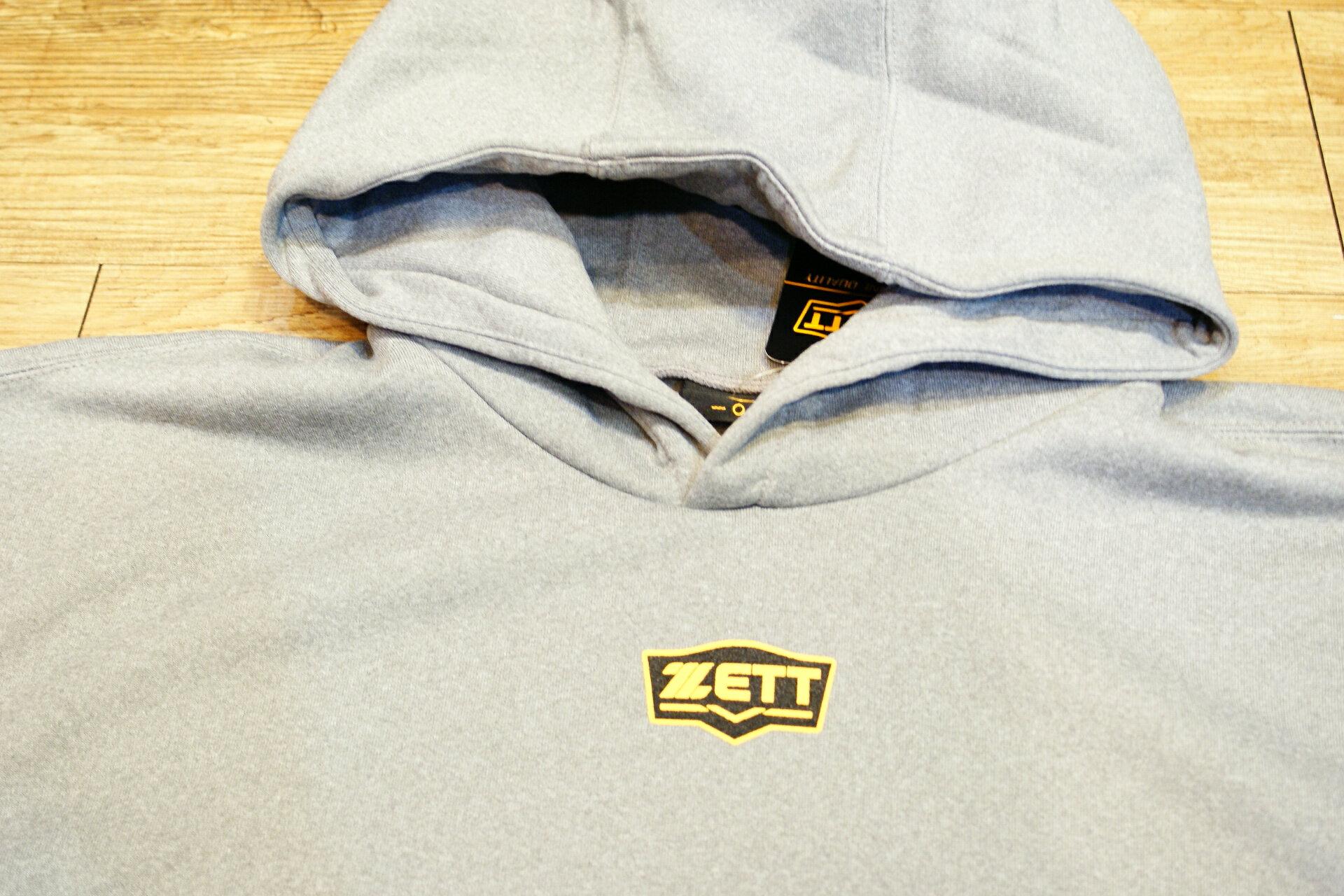 棒球世界全新ZETT金標新本壘版標長袖運動帽T特價