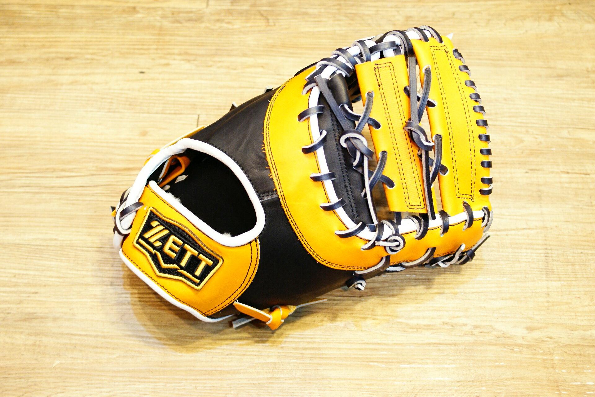 棒球世界 ZETT硬式金標棒球一壘手套 特價 本壘版標