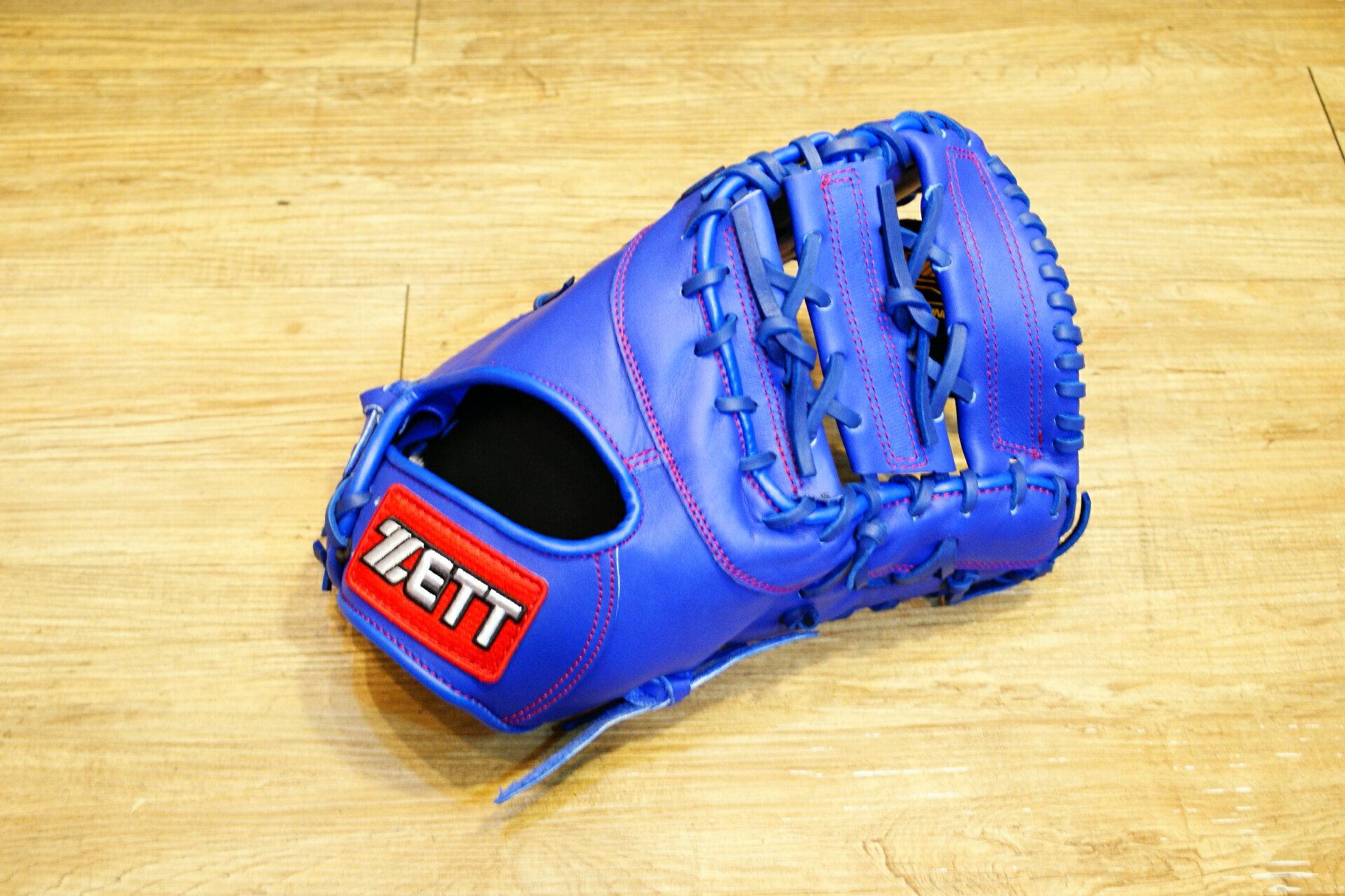 棒球世界 全新ZETT棒球一壘手手套 藍色 特價 加送手套袋 8703 系列