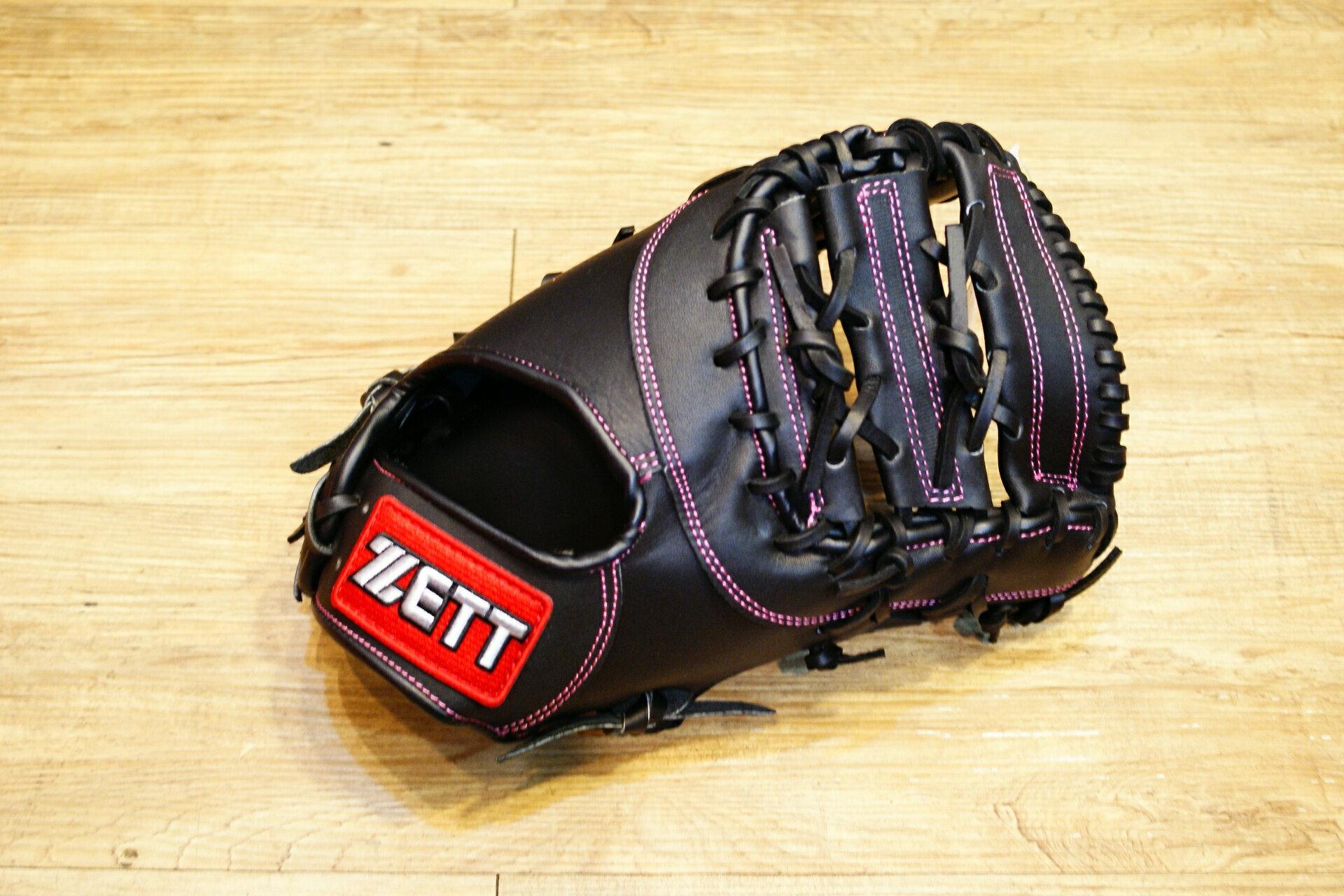 棒球世界 全新ZETT棒球一壘手手套 黑色 特價 加送手套袋 8703 系列