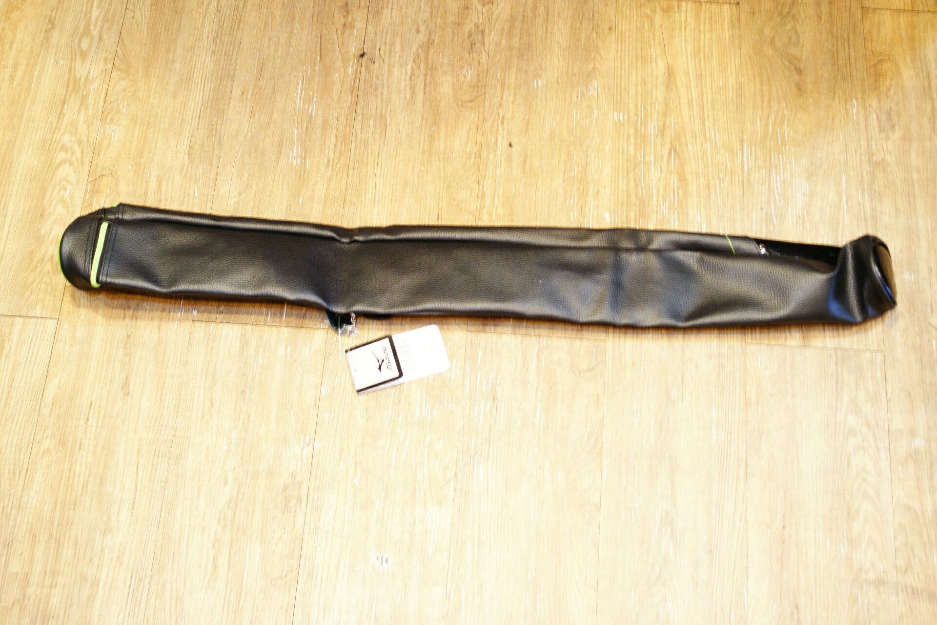 棒球世界 MIZUNO 15年 上半季 新款單支裝球棒袋(1FTT500793) 特價 黑綠配色