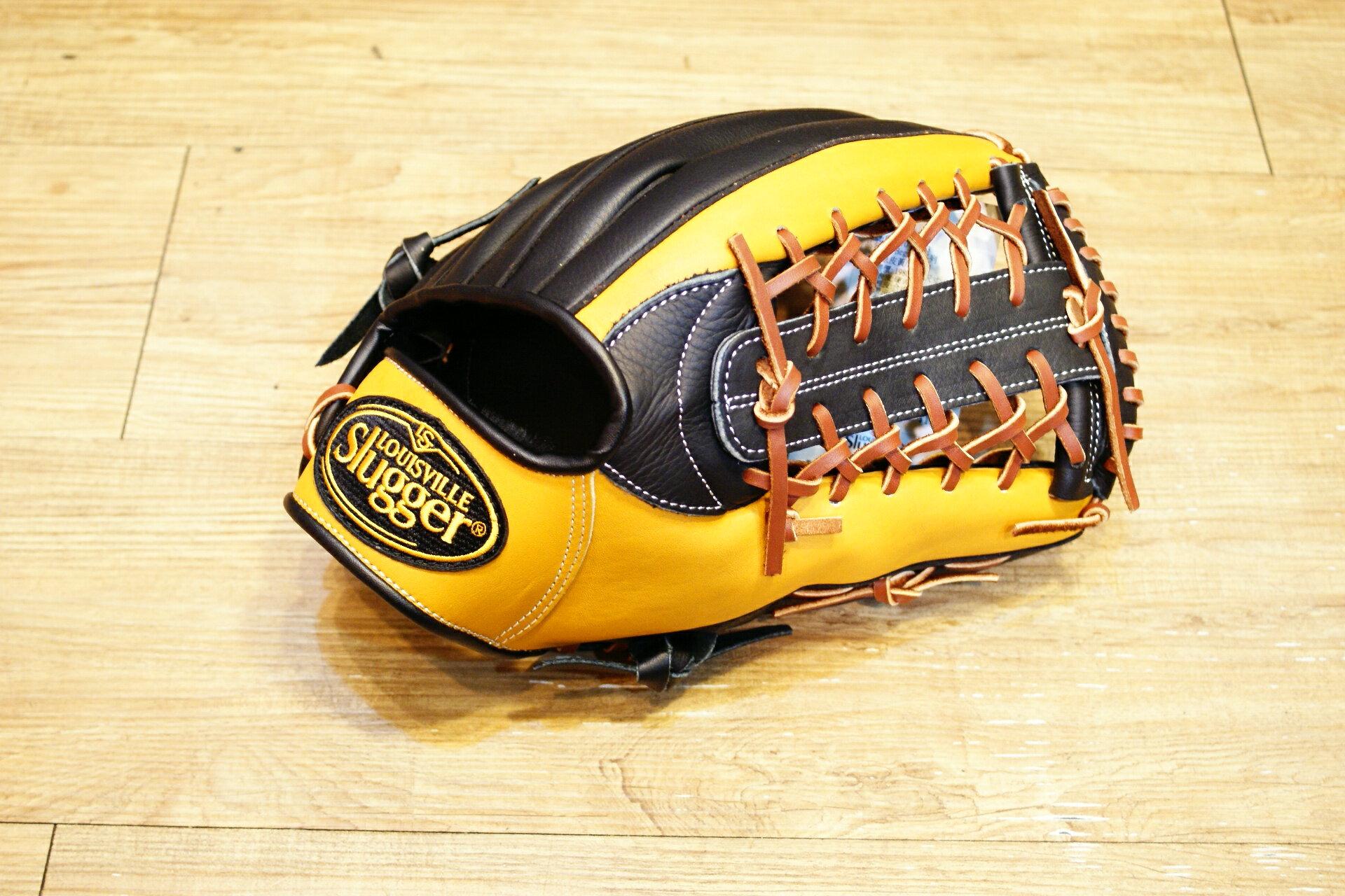 棒球世界 全新Louisvill Slugger 路易斯威爾TPX黑黃配色外野手手套 特價