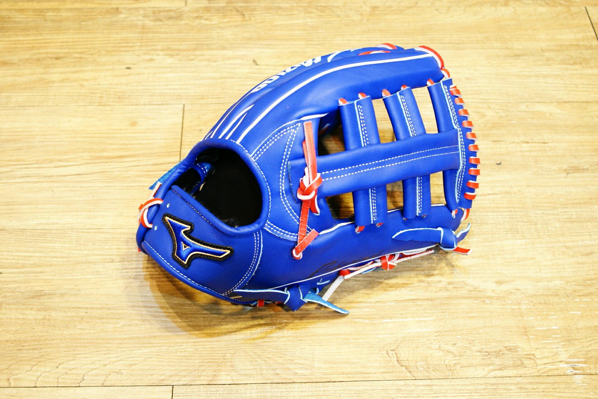 棒球世界 Mizuno 美津濃 2015年上半季 PROFESSIONAL 硬式外野雙十手套特價 藍色