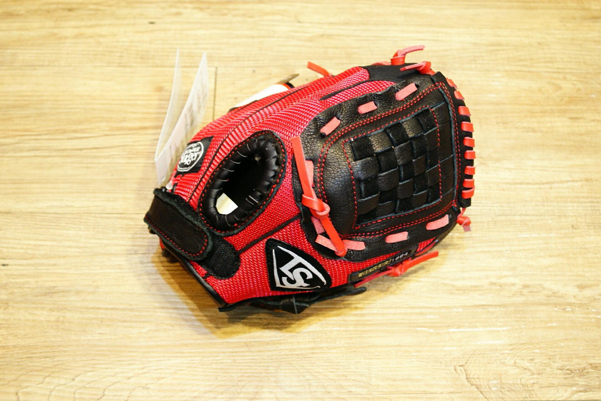 棒球世界 Louisville Slugger 路易斯威爾 genesis10.5吋兒童手套特價 黑紅配色