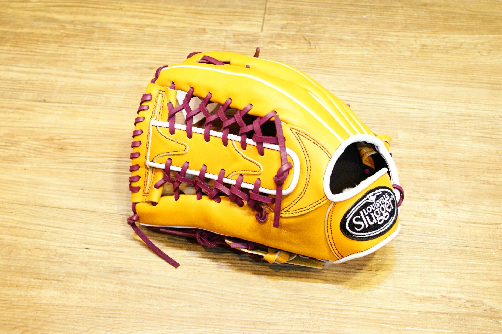 棒球世界 路易士Louisville Slugger (TPX) X Remix 牛皮棒球手套 特價 外野T網原皮色