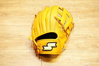 棒球世界 全新 店訂版SSK棒壘通用牛皮內野手套特價   內野V字檔 原皮色