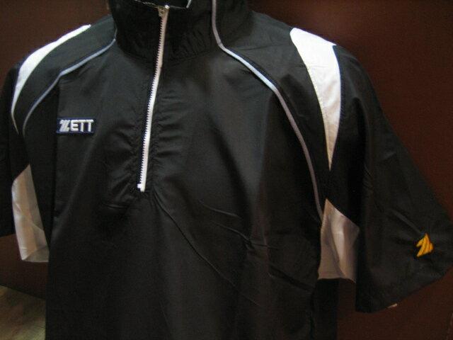棒球世界 2010 ZETT 新款短袖熱身風衣(BOTT-500.黑色)夏季限定量販