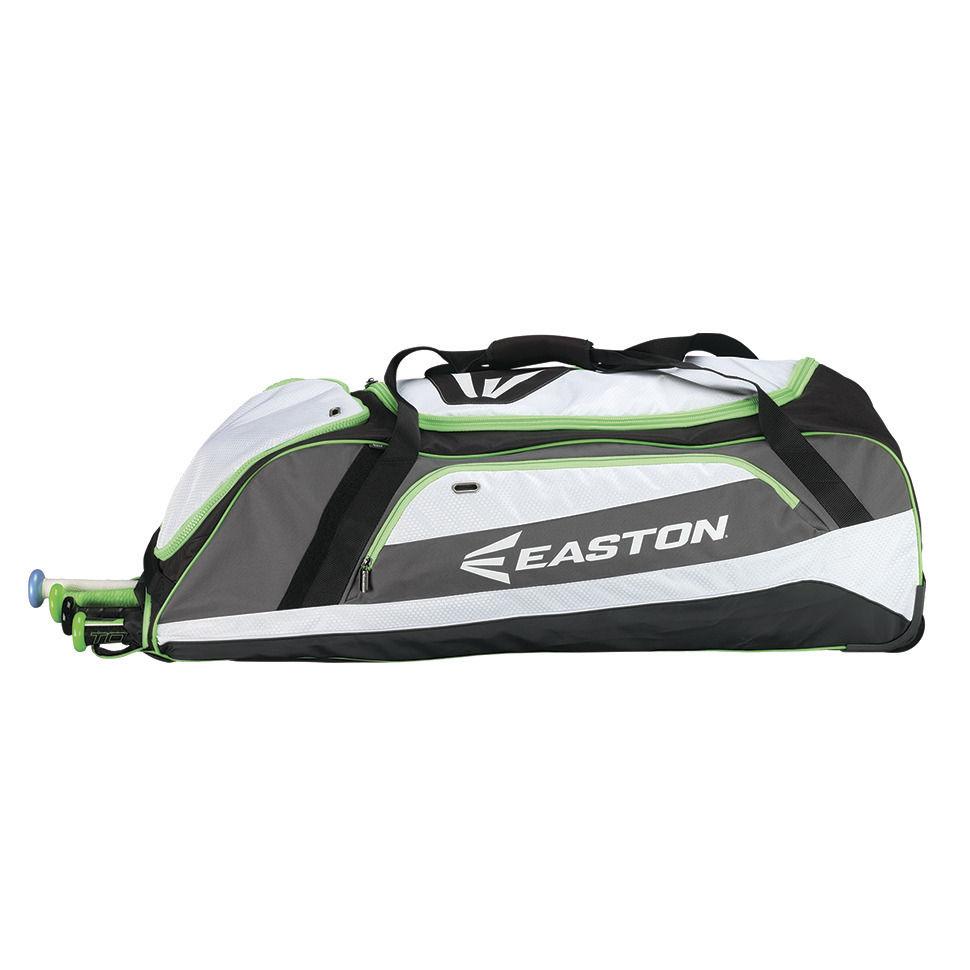 棒球世界 EASTON 新款美式滾輪大型裝備袋(A163070系列) 白綠色 特價