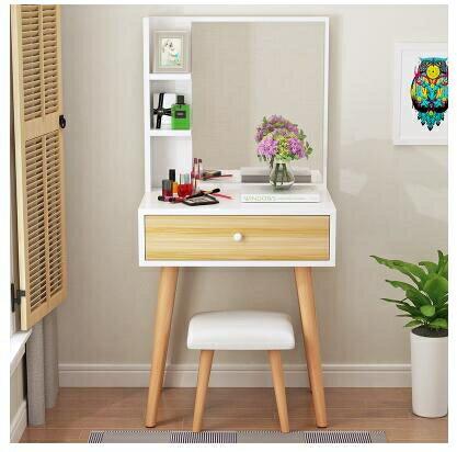 梳妝台 北歐梳妝台小戶型簡約迷妳組裝現代省空間臥室單人化妝桌化妝台 mks雙11
