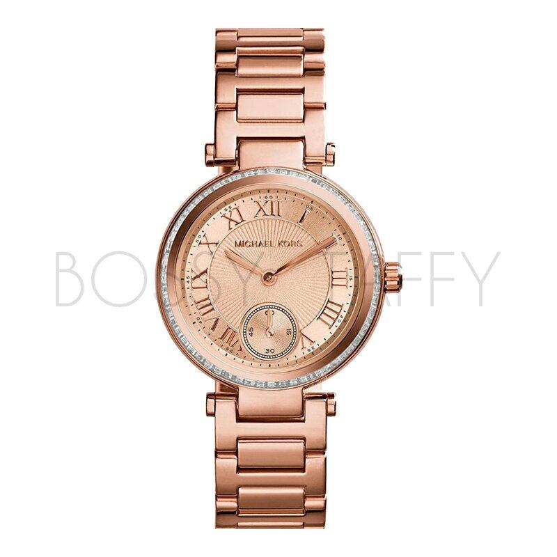 MK5971 MICHAEL KORS 鑲鑽羅馬字玫瑰金女錶 手錶