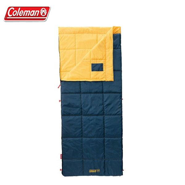 【露營趣】ColemanCM-32338表演者III黃睡袋C10信封型睡袋全開式睡袋化纖睡袋纖維睡袋露營睡袋可拼接