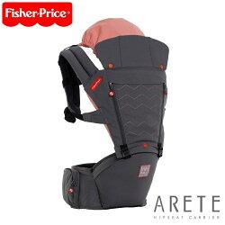 韓國【Fisher-Price費雪】ARETE艾瑞特腰凳式揹巾(含有機口水布套)-大象灰