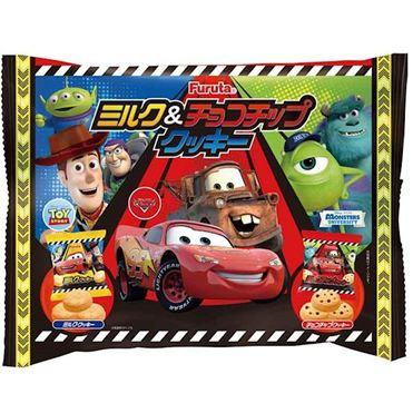 【Furuta古田】Disney迪士尼卡通餅乾-牛奶和巧克力豆 6袋入 130g 日本進口零食