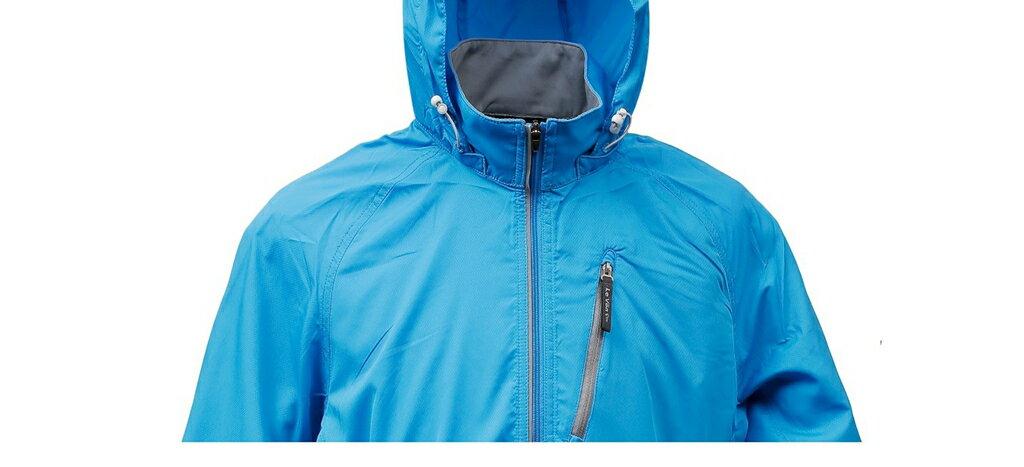 男抗UV單層風衣 - 水藍 3459 1
