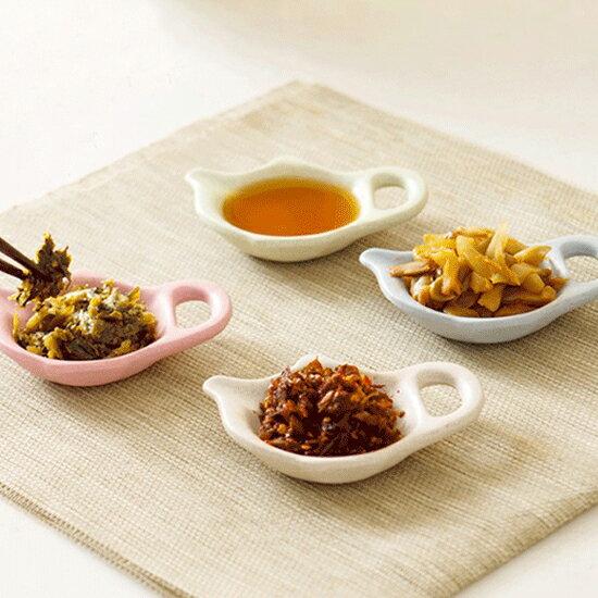 ♚MYCOLOR♚茶壺造型小碟子小麥環保醋醬油調味小菜餐具廚房手把醬料餐桌【H38-1】