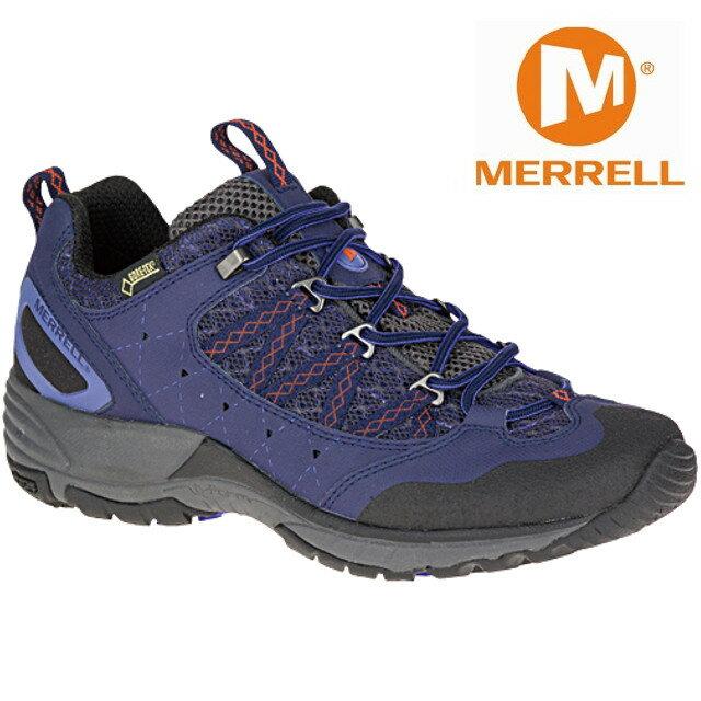 零碼特價Merrell 登山鞋/越野鞋/健行鞋 防水透氣 Avian Light Sport GORE-TEX ML36976 女 紫藍色