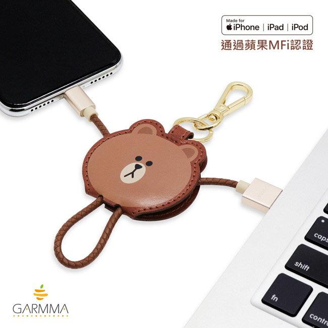 GARMMA LINE Friends Apple Lightning皮革吊飾傳輸線(熊大 / 兔兔 / Kitty / 熊美) 3