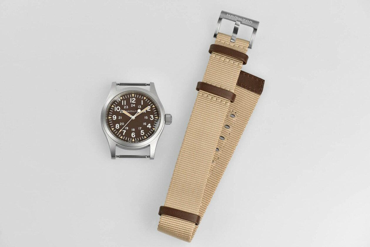 Hamilton 漢米爾頓 Khaki Field 卡其野戰系列軍事腕錶 H69429901 卡其色系 38mm 4