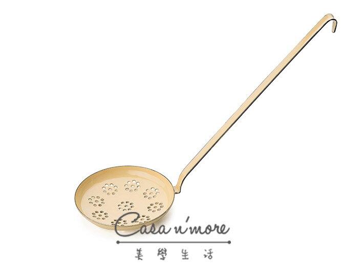 Riess 琺瑯 湯勺 淺濾勺   12 cm 黃色 奧地利製 - 限時優惠好康折扣