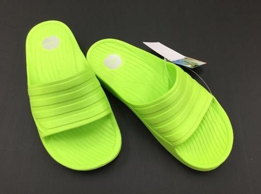 ※555鞋※綠色 母子鱷魚 馬卡龍色 浴室 海灘 防水 拖鞋 一體成形 氣墊 超舒適運動休閒拖鞋