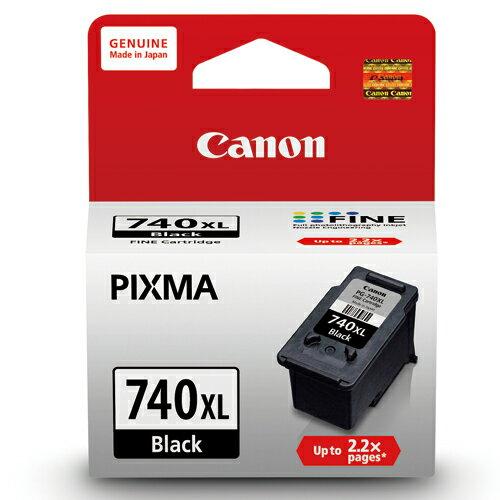 【CANON 墨水匣】 PG-740XL 黑色大容量原廠墨水匣(14ml)