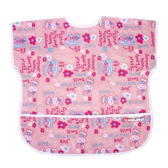 【任二入95折】Baby City娃娃城 - 防水短袖圍兜 (1-3歲) 2