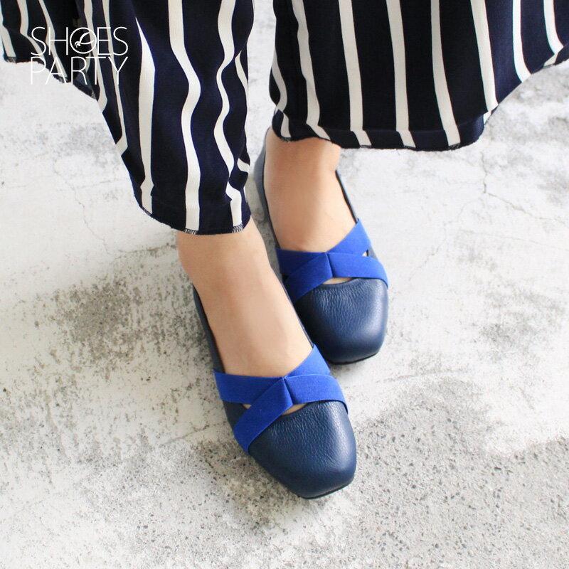 【 F2-17710L 】交叉鬆緊帶休閒鞋_Shoes Party 1