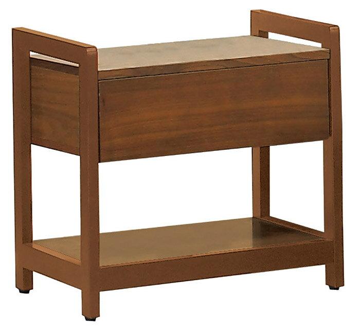 【尚品家具】JF-531-3 奧斯丁胡桃床頭櫃