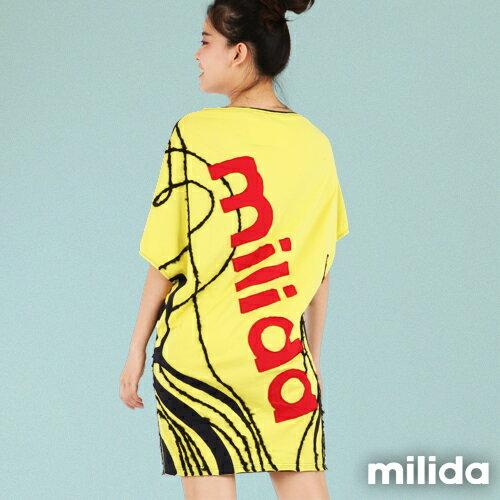 【Milida,全店七折免運】-秋高氣爽-洋裝款-拼貼洋裝 3