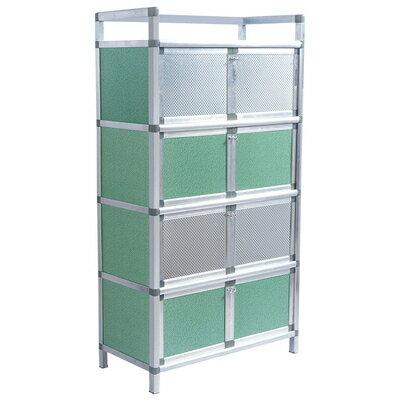 鋁合金放碗櫃碗櫃家用廚房置物架櫥櫃簡易櫃子儲物收納櫃鋁合金組裝多功能放碗『J1895』