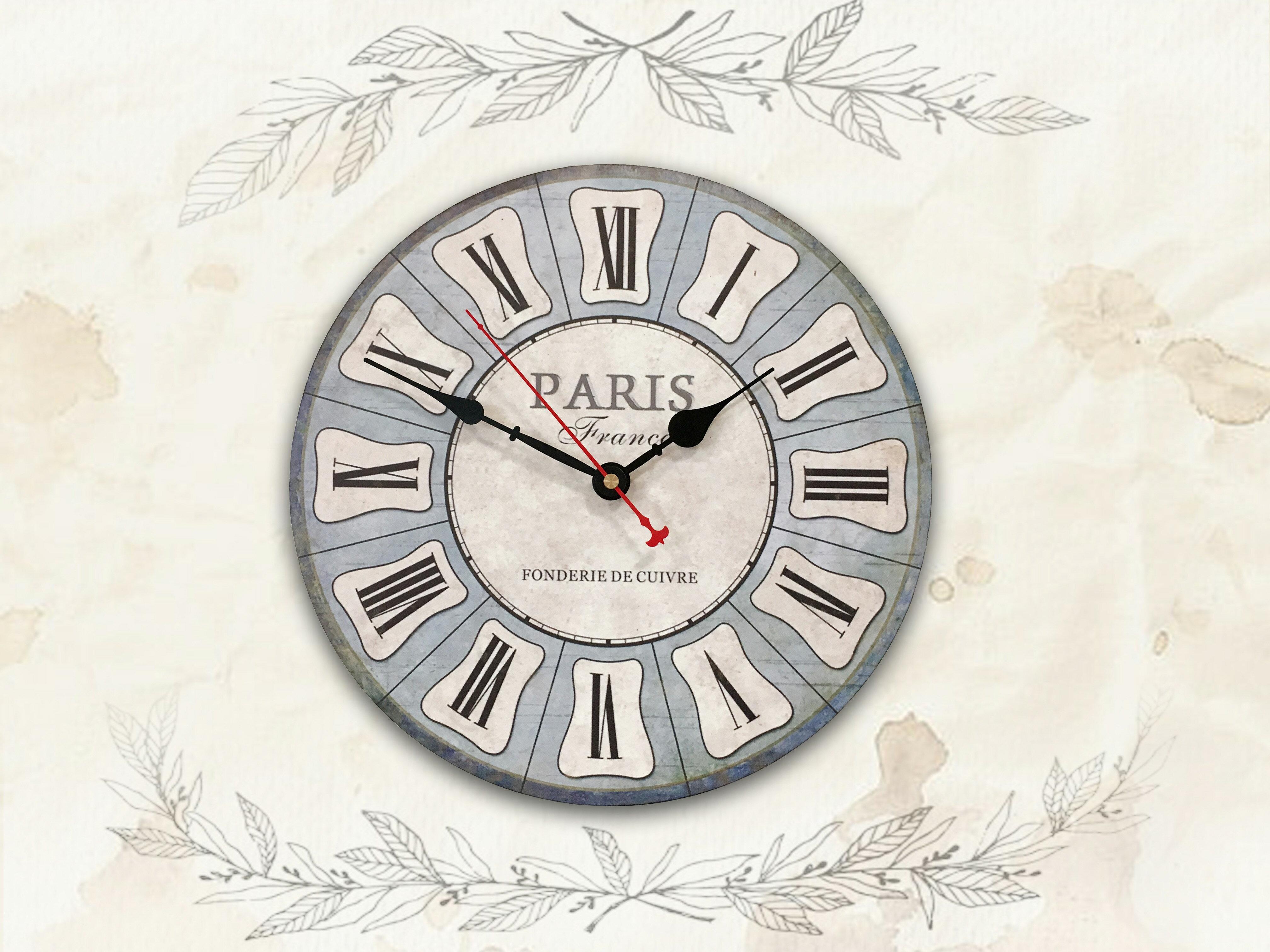 【新生活家具】淺藍 羅馬數字 現代 工業 復古 美式 鄉村 靜音時鐘 掛鐘 壁鐘 時鐘《蓋瑞》非 H&D ikea 宜家