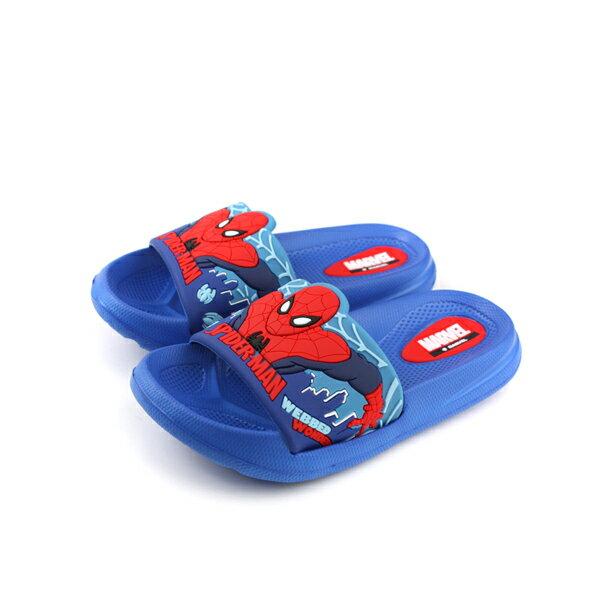 MARVEL漫威蜘蛛人SPIDERMAN拖鞋防水雨天藍色中童MNKS79526no630