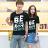 情侶T 短袖T桖 MIT 台灣製 BE NOT【M30100】情侶裝 潮T 班服 艾咪E舖 Tshirt 團體服 2