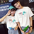 T恤 情侶裝 客製化 MIT台灣製純棉短T 班服◆快速出貨◆獨家配對情侶裝.男女娃造型冰棒【Y0152】可單買.艾咪E舖 0