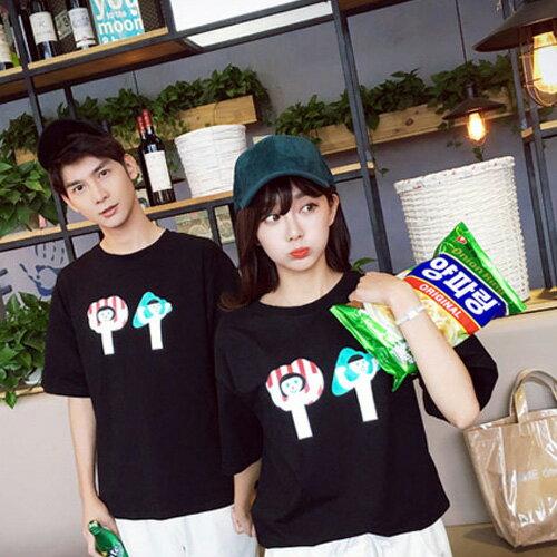T恤 情侶裝 客製化 MIT台灣製純棉短T 班服◆快速出貨◆獨家配對情侶裝.男女娃造型冰棒【Y0152】可單買.艾咪E舖 3