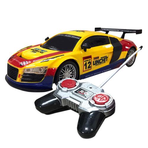 電動遙控車 尾翼版 紅黃款 遙控電動車 跑車 玩具車 玩具 1:18模型 - 692827