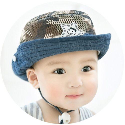 寶寶帽迷彩漁夫帽遮陽帽嬰兒帽盆帽嬰兒帽網帽防曬必備CA5342好娃娃