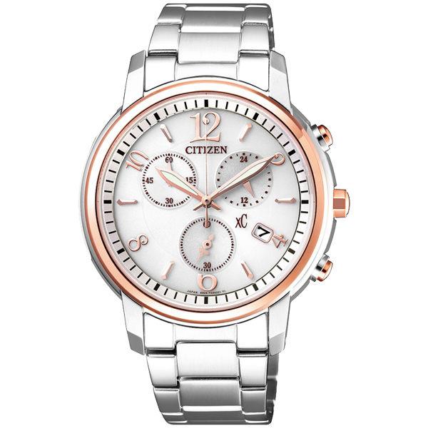 CITIZEN星辰FB1434-50A 亞洲限定版時尚光動能腕錶/粉面37mm