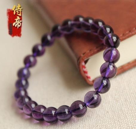 深紫款紫水晶手鏈 時尚經典