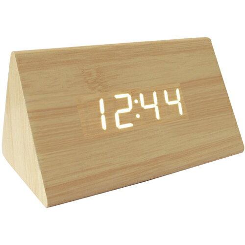 Led木製時尚鬧鐘(三角形) [大買家] 2